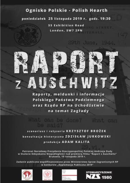 Raport z Auschwitz - projekcja w Londynie